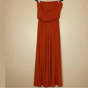 American Rag Wide Leg Jumpsuit Strapless Red XS